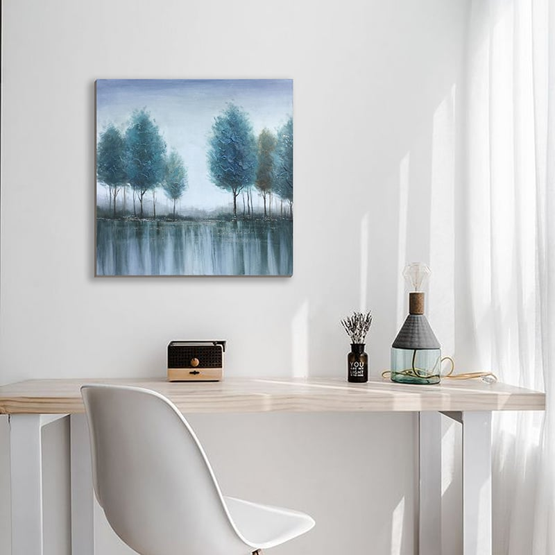 """""""Blue Lake Forest"""" Oil Painting"""