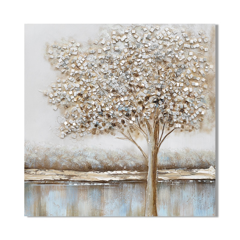 """""""Cube Tree"""" Oil Painting"""