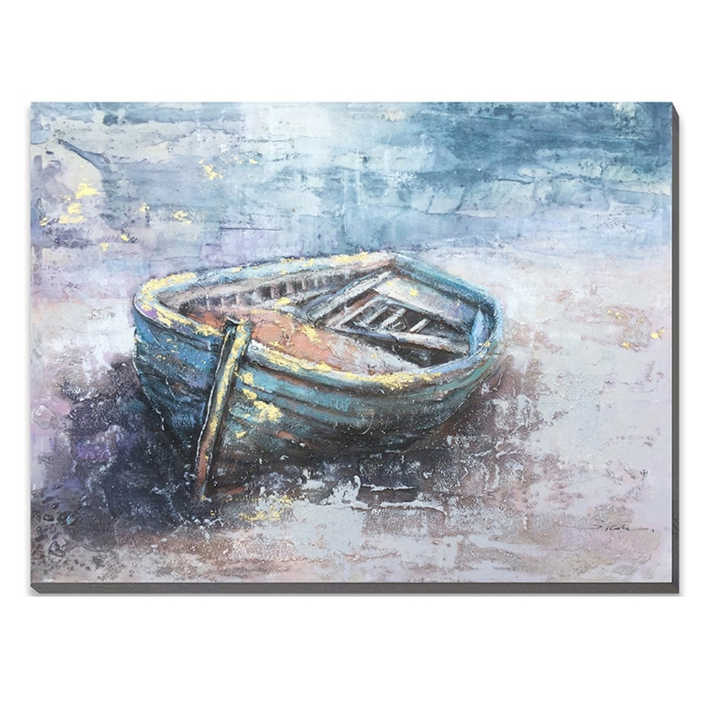 """""""Stranded Boat"""" Oil Painting"""